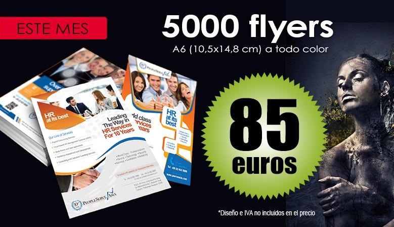 ¡Ofertón flyers A6!